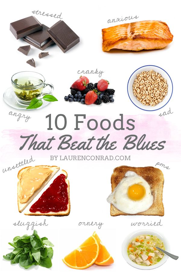 Top foods to beat the blues :)